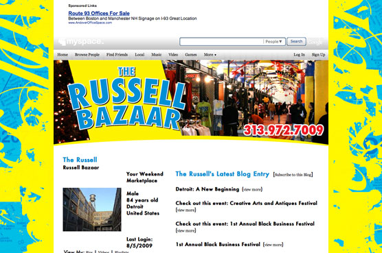 Russell Bazaar Myspace